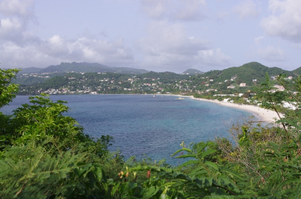 View of a bay in Grenada