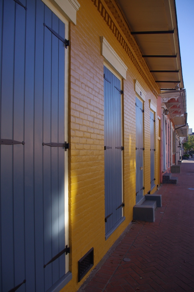 Blue doors in New Orleans